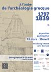 Affiche expo A l'aube de l'archéologie grecque