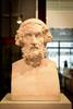 Exposition : Buste-Hermès d'Homère, tirage en plâtre, Musée A. Michaelis